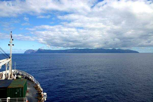 Approaching St Helena onboard the RMS St Helena