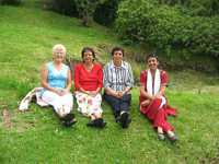 Members of the local Bahá'í community and visitors from overseas enjoying the fresh air at Blue Hill (2009)